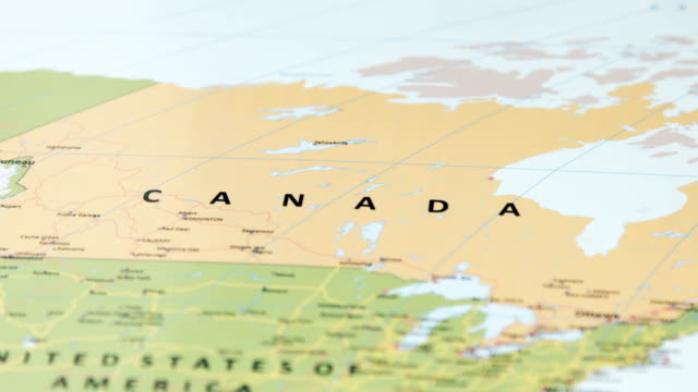 north america canada on world map - canada stock videos & royalty-free footage