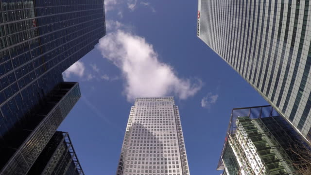 canada square, canary wharf. - canary wharf stock videos & royalty-free footage