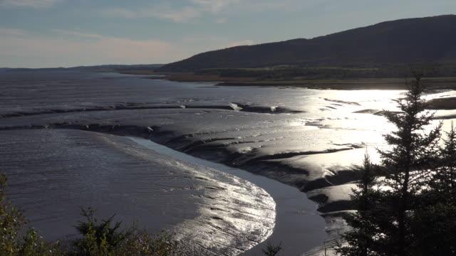 Canada sun on Bay of Fundy mud flats