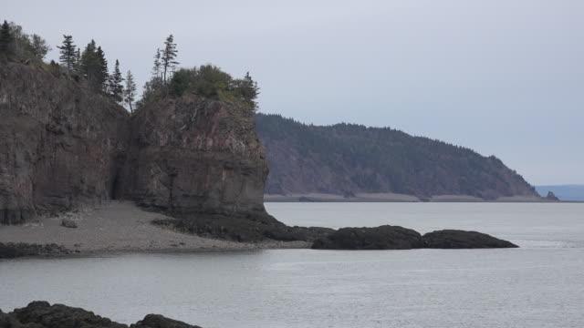 Canada vista along Bay of Fundy shore zoom