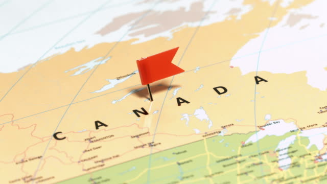canada with pin - geographical border stock videos & royalty-free footage