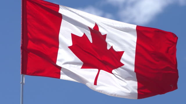 stockvideo's en b-roll-footage met canadain flag - canada