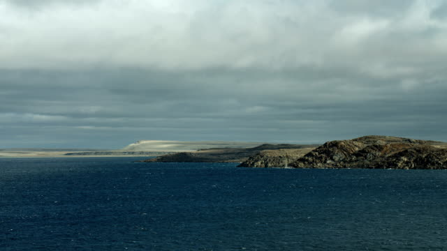 canada's bellot strait on a cloudy day - northwest passage stock videos and b-roll footage