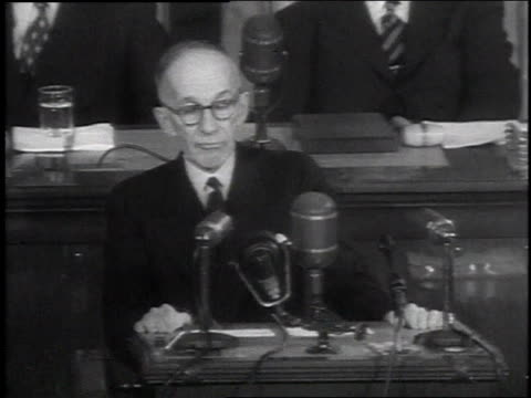 canada's governor general vincent massey makes a speech about the importance of friendship between the united states and canada - 1954 stock videos & royalty-free footage