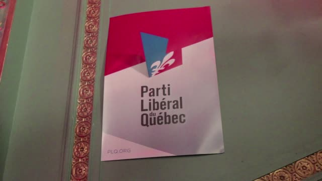 canadas quebec province votes out a separatist government choosing a former neurosurgeon and his federalist liberal party to lead a promised economic... - québec provincia video stock e b–roll