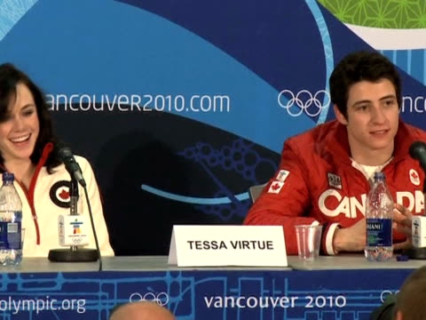 Canada's Tessa Virtue and Scott Moir danced their way into history on Monday when they became the youngest ever Olympic figure skating ice dancing...