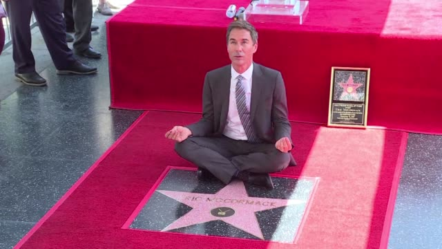 canadian actor eric mccormack who plays a gay lawyer in the award winning series will and grace unveils a star on the hollywood walk of fame - eric mccormack stock videos & royalty-free footage