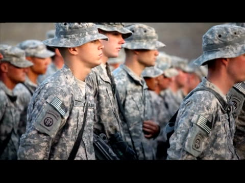 canadian and us soldiers attend a memorial service for sergeant martin goudreault at camp nathan smith in kandahar city on june 8 2010 goudreault was... - kandahar afghanistan stock videos & royalty-free footage
