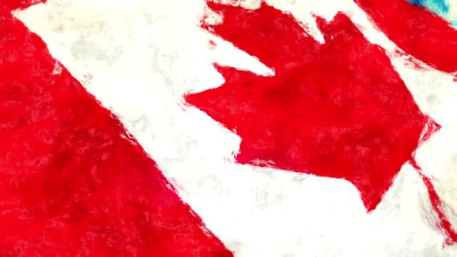 vídeos de stock e filmes b-roll de arte bandeira do canadá - bandeira do canadá