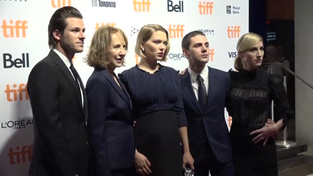 Canadian director Xavier Dolan and the cast of his new film It's Only the End of the World attend the play adaptation premiere at the Toronto film...