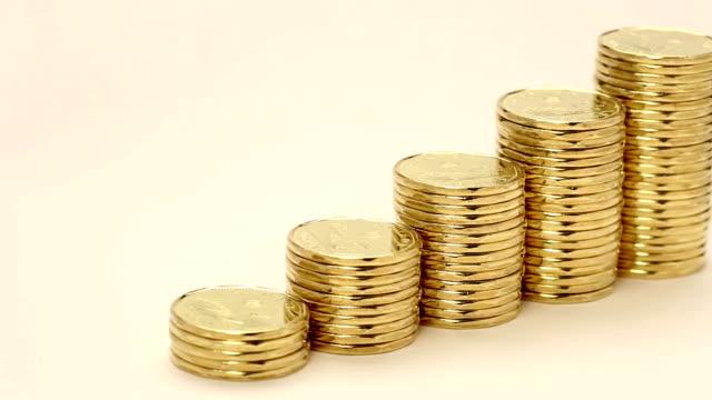 カナダドルコイン loonie - 硬貨点の映像素材/bロール