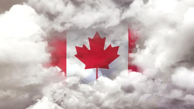 vídeos de stock e filmes b-roll de canadian flag - 4k resolution - bandeira do canadá
