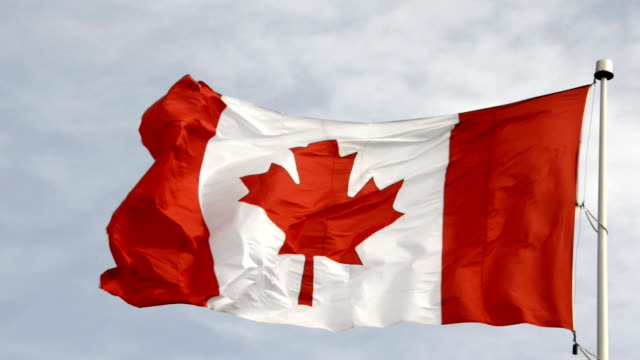 Canadian Flag Flying in a Mast