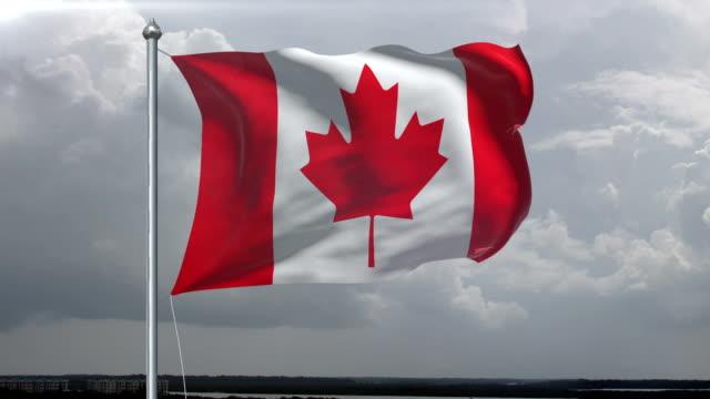Canadian Flag HD 1080, PAL, NTSC, alpha included, looping