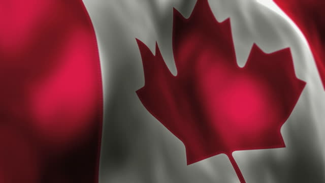 Canadian Flag High Detail - Looping