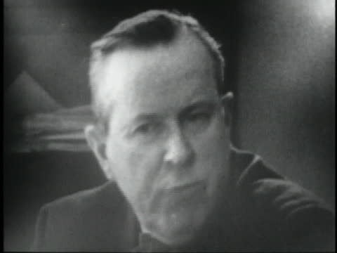 canadian foreign minister lester pearson speaks of u.s. relations with canada. - united states and (politics or government) stock videos & royalty-free footage