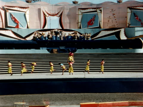 1955 montage canadian national exhibition, acrobats and tumblers / toronto, canada - 1955 stock videos & royalty-free footage