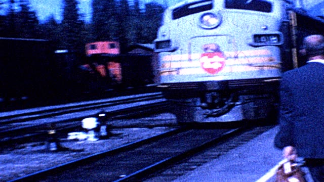 1962 canadian pacific train - porter stock videos & royalty-free footage