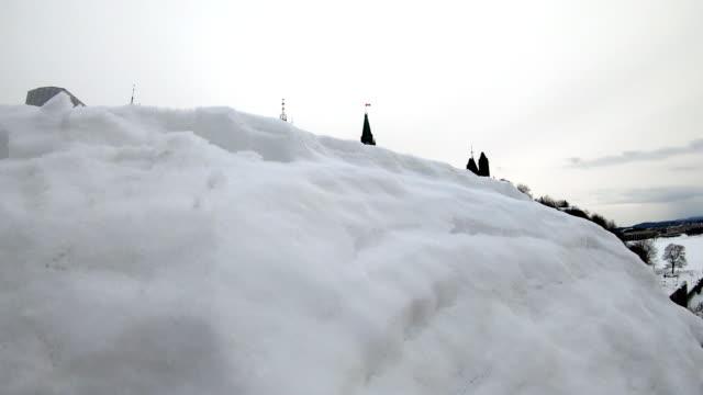 フロンから見た冬のカナダ国会議事堂 - 柱点の映像素材/bロール