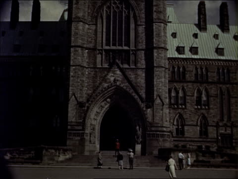canadian parliament's peace tower with mountie - ottawa stock videos & royalty-free footage