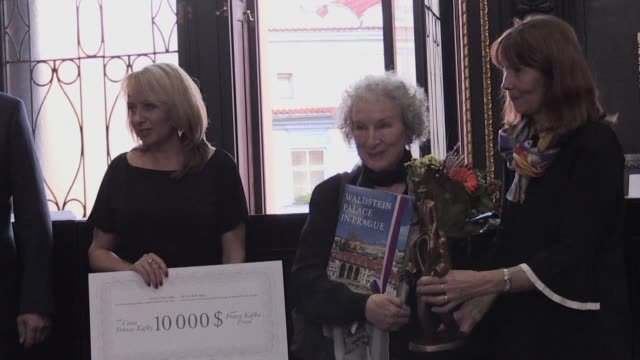 canadian poet critic and novelist margaret atwood receives this year's international franz kafka literary prize at a ceremony in prague which... - critic stock videos & royalty-free footage