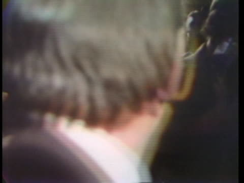 canadian prime minister pierre trudeau arrives at his campaign headquarters to announce his defeat. - (war or terrorism or election or government or illness or news event or speech or politics or politician or conflict or military or extreme weather or business or economy) and not usa stock videos & royalty-free footage