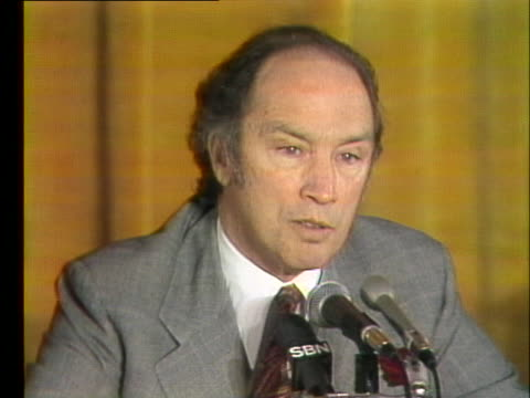 canadian prime minister pierre trudeau comments on phasing out oil imports to the united states by 1982. - united states and (politics or government) stock videos & royalty-free footage