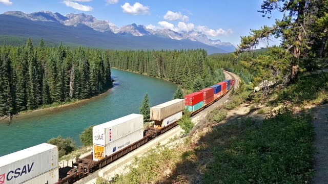 canadian railway - alberta stock videos & royalty-free footage