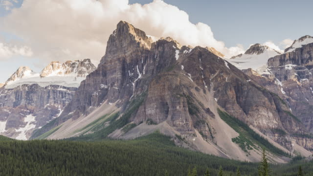 canadian rockies: cloudy sky - wilderness stock videos and b-roll footage