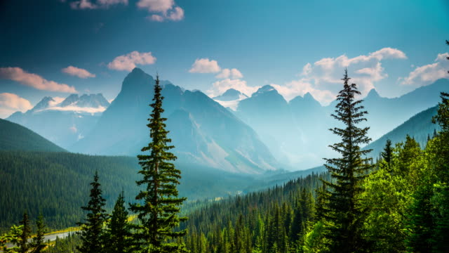 canadian rocky mountains - time lapse - valley of the ten peaks stock videos & royalty-free footage