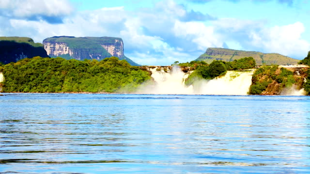 HD Canaima National Park Lagoon and waterfalls, Venezuela