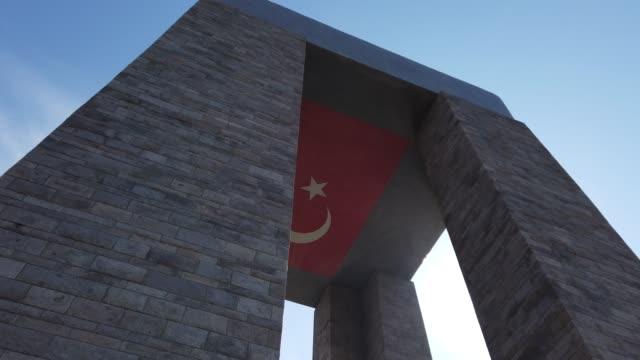 canakkale martyrs' memorial - durevolezza video stock e b–roll