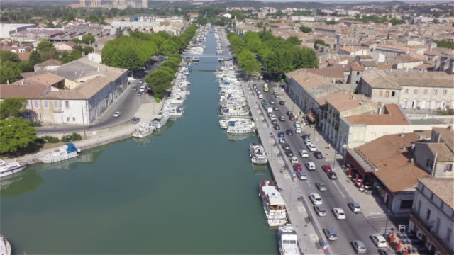 canal du midi in beaucaire - canal du midi stock videos & royalty-free footage
