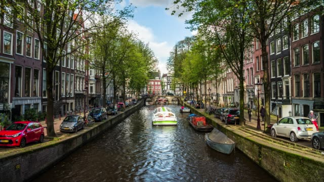 canal in amsterdam - canal stock videos & royalty-free footage