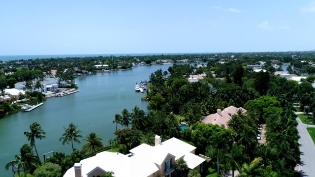 canal luxury homes naples florida - naples florida stock videos & royalty-free footage