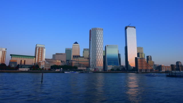 canary wharf in docklands london - vertical stock videos & royalty-free footage