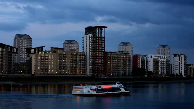 canary wharf in london - penthouse stock videos and b-roll footage