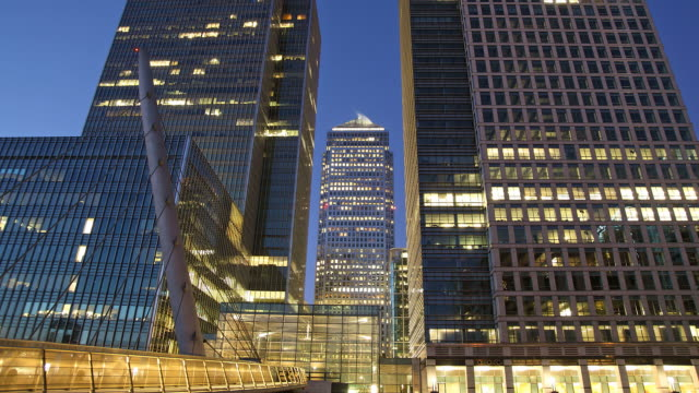 Canary wharf timelapse London