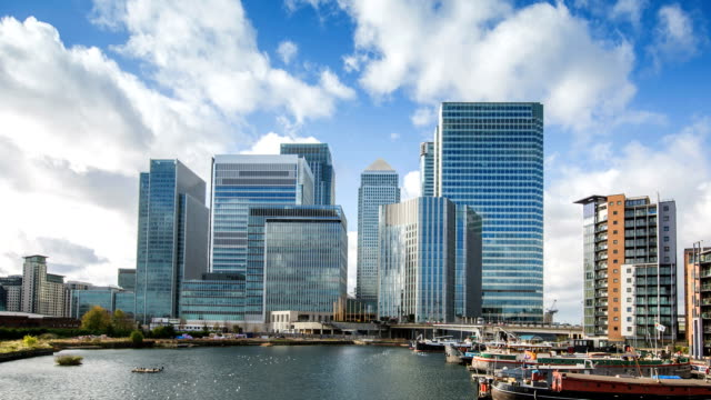 canary wharf - canary wharf stock videos & royalty-free footage