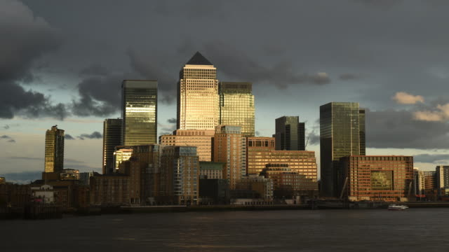 canary wharf - east london stock videos and b-roll footage