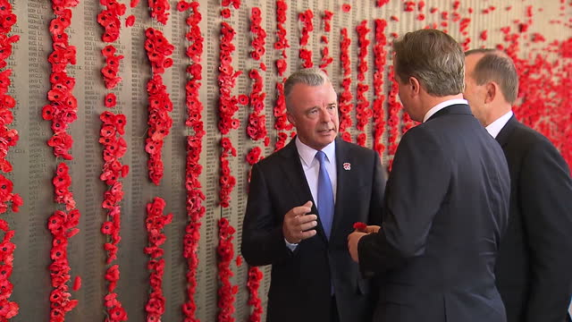 g20 canberra canberra australian war memorial exterior shots of british prime minister david cameron shown around australian war memorial walking... - admiral nelson stock videos and b-roll footage