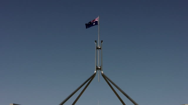 canberra parliament house - parliament building stock videos & royalty-free footage