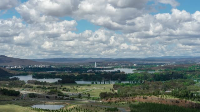 canberra timelapse from national arboretum canberra - canberra stock videos & royalty-free footage