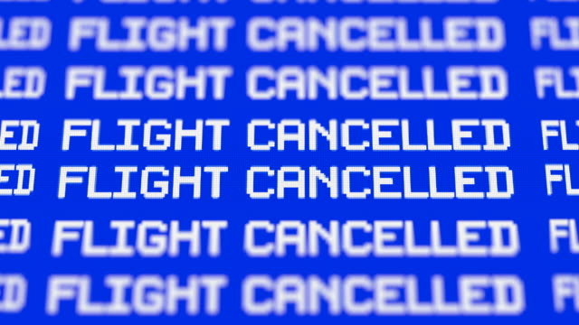 cancelled flights - commercial airplane stock videos & royalty-free footage