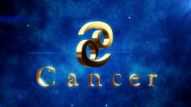 cancer (zodiac air sign) | loopable - cancer astrology sign stock videos and b-roll footage