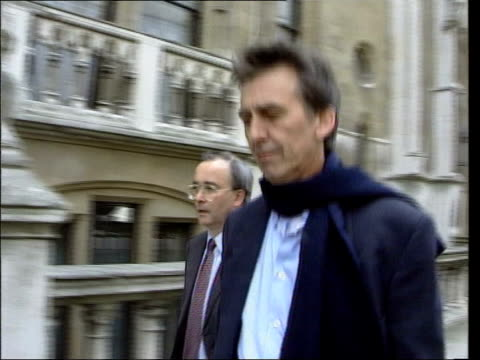 cancer scare nat u'lay lib england london ext former beatle george harrison along street - george harrison video stock e b–roll