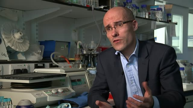 scientist discover new treatment that enables the body to target cancerous tumours england london int various of reporter sat with professor charles... - francis crick stock videos & royalty-free footage