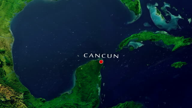 cancun 4k  zoom in - cancun stock videos & royalty-free footage