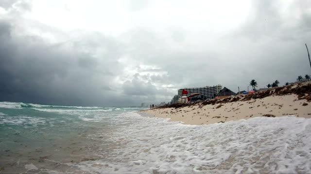 cancun beach - mayan riviera stock videos and b-roll footage