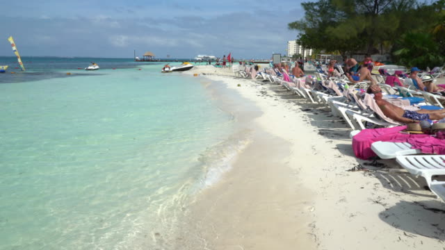strand von cancun - karibik stock-videos und b-roll-filmmaterial